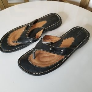 Born Black Flip Flop Thong Sandal Comfort Shoe 8